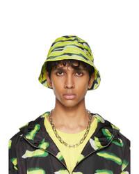 Dries Van Noten Green Len Lye Edition Graphic Nylon Bucket Hat