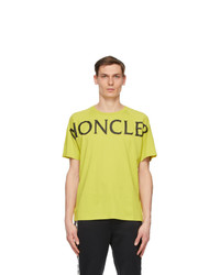 Moncler Green Matt Black Logo T Shirt