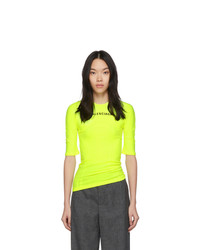 Balenciaga Yellow Athletic T Shirt