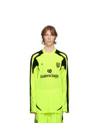 Balenciaga Yellow Soccer Long Sleeve T Shirt