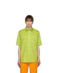 Green-Yellow Print Short Sleeve Shirt