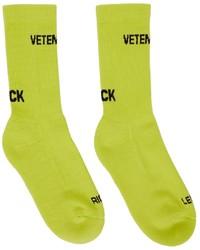 Vetements Yellow Logo Socks
