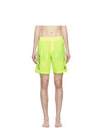 Off-White Yellow Bermuda Swim Shorts