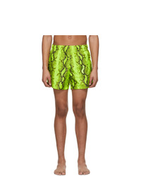 Off-White Yellow Snake Swim Shorts
