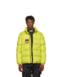 Heron Preston Yellow Down Style Dots Jacket
