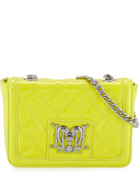 Love Moschino Vern Faux Leather Quilted Crossbody Bag Yellow
