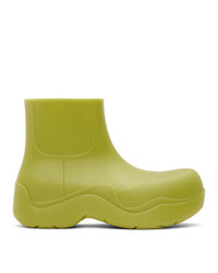 Bottega Veneta Green Matte Bv Puddle Boots