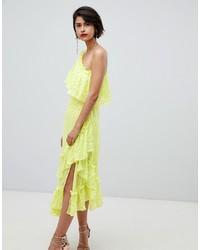 ASOS DESIGN Ruffle Midaxi Dress In Sequin