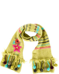 Catimini Girls Embroidered Scarf