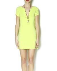 Sage Neon Shift Dress