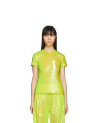 MM6 MAISON MARGIELA Yellow Sequin Blouse