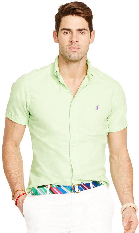 e9fdb9a44 Polo Ralph Lauren Short Sleeved Oxford Shirt, $89 | Macy's ...