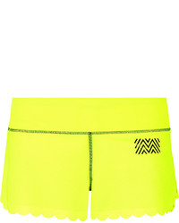 Monreal London Scalloped Stretch Jersey Shorts Yellow