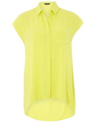 Dorothy Perkins Lime Sleeveless Shirt