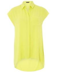 Dorothy perkins lime sleeveless shirt medium 256958