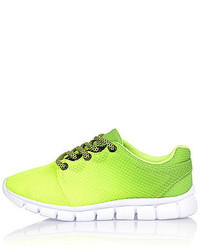 River Island Boys Lime Green Faded Sneakers