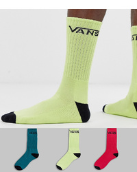 Vans Classic 3 Pack Socks In Multi Colour