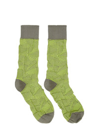 Issey Miyake Men Yellow Crush Socks