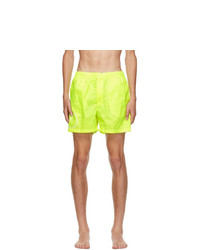 Valentino Yellow Vlogo Swim Shorts