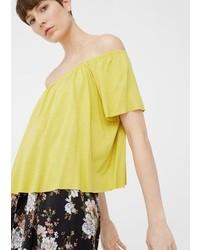 Mango Off Shoulder T Shirt