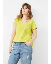 Violeta BY MANGO Ruched Detail T Shirt