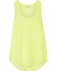 Equipment Mel Neon Washed Silk Tank Bright Yellow