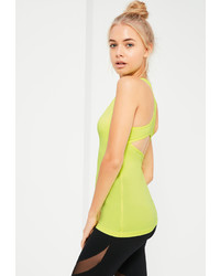 Missguided Active Green Sports Tank Top