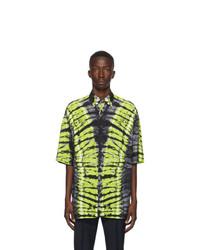 Valentino Black And Green Pop Skin Printed Shirt