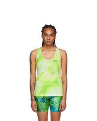 Versace Green Tie Dye Tank Top