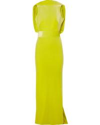 Brandon Maxwell Open Back Velvet Gown