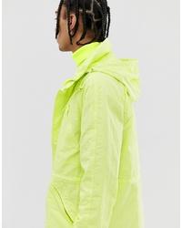 ASOS DESIGN Parka Jacket In Neon Green