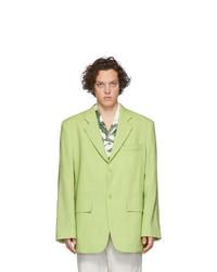 Jacquemus Green La Veste De Costume Blazer
