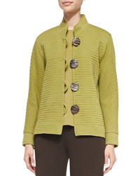 Wool ottoman jacket leaf green medium 637114