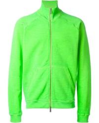 Green-Yellow Zip Sweater