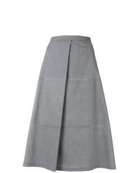 Grey A-Line Skirt