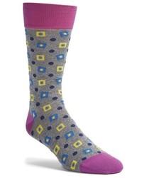 Grey Argyle Socks
