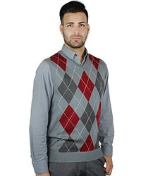 Grey Argyle Sweater Vest