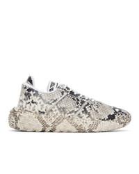 Giuseppe Zanotti Black Python Urchin Sneakers