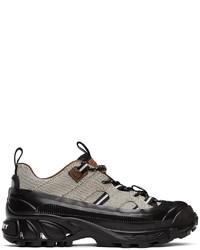 Burberry Black White Canvas Arthur Sneakers