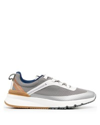 Brunello Cucinelli Contrast Stitching Low Top Sneakers