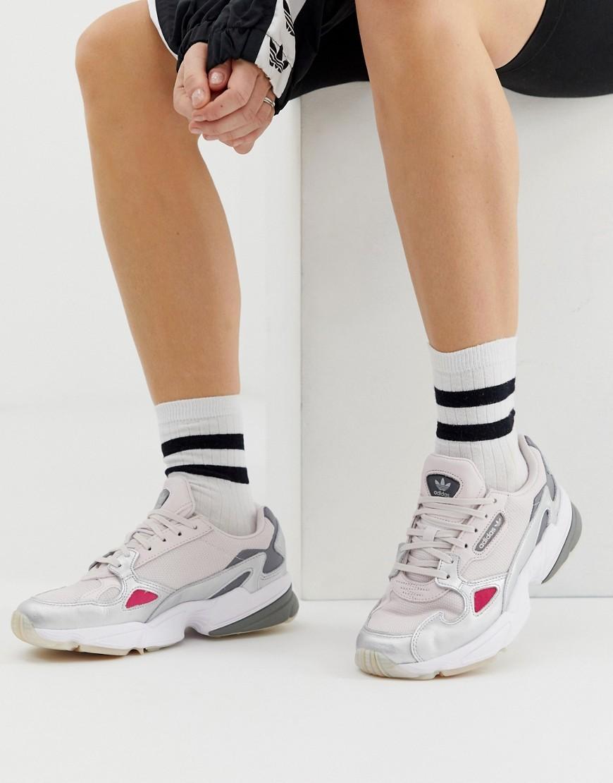 Solicitante Observar Dios  adidas Originals Falcon Trainer In Grey And Silver, $26 | Asos | Lookastic