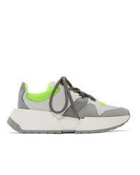 MM6 MAISON MARGIELA Grey And Green Chunky Sneakers