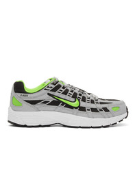 Nike Grey And Green P 6000 Sneakers