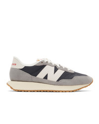 New Balance Grey And Navy 237 Sneakers