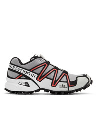 Salomon Grey And Pink Speedcross 3 Adv Sneakers