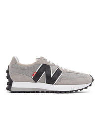 Levis Grey And White New Balance Edition 327 Sneakers