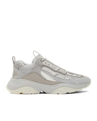 Amiri Grey Bone Runner Sneakers