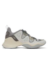 Fendi Grey Ffluid Low Top Sneakers