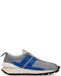 Lanvin Grey Mesh Bumpr Sneakers