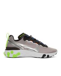 Nike Grey React Elet 87 Sneakers